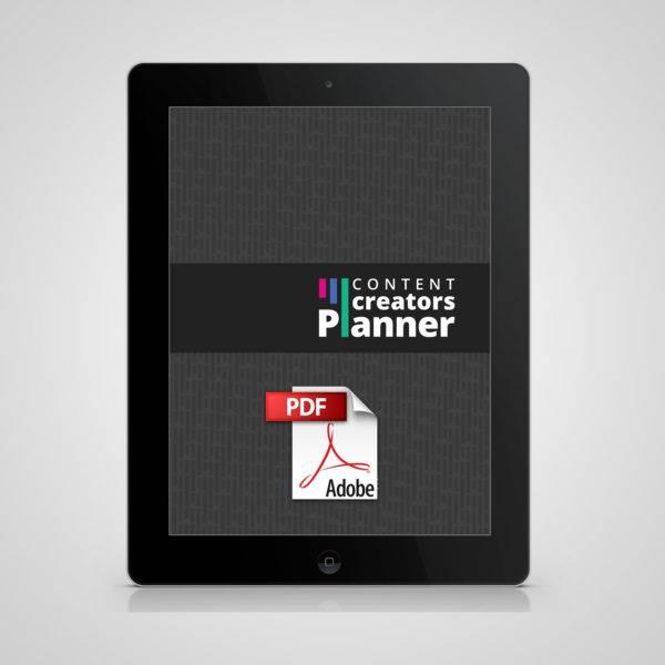Digital Content Creators Planner - no course
