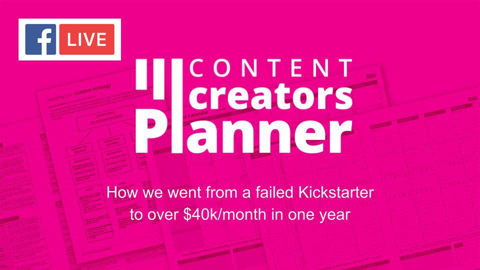 from Failed Kickstarter to over $40k revenue per month in less than one year